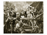 The Execution of Montrose, 21st May 1650 Giclee Print by Edgar Melville Ward