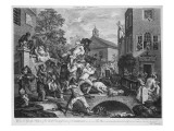 The Election, Chairing the Member, 1758 Giclee Print by William Hogarth