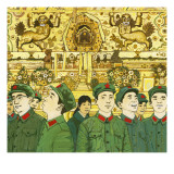Members of the Chinese Red Army Giclee Print by  English School