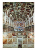 Interior View of the Sistine Chapel Giclée-tryk af  Italian School