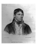 Jack Randall, Engraved by Hopwood Giclee Print by George Sharples