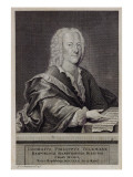 Portrait of Georg Philipp Telemann Giclee Print by Georg Lichtensteger