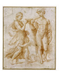 Mercury Offering the Cup of Immortality to Psyche Reproduction proc&#233;d&#233; gicl&#233;e par Raphael 