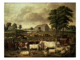 A Pennsylvania Country Fair, 1824 Premium Giclee Print by John Archibald Woodside