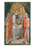 Madonna and Child Enthroned with Angels Giclee Print by Simone Dei Crocifissi