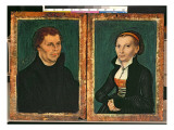 Martin Luther, Katharina Von Bora, C.1526 Giclee Print by Lucas Cranach the Elder