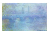 Waterloo Bridge, Effect of Fog, 1903 Giclee Print by Claude Monet