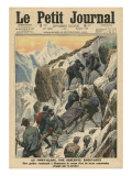 A Moving Descent Down the Mont Blanc Giclee Print by French School