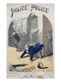 Police! Police! Song Book Cover, C.1865 Giclee Print by Alfred Concanen
