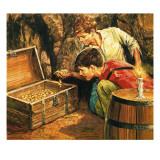 Tom Sawyer and Huckleberry Finn Giclee Print by  English School