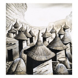 Primitive Homes: the Roof Tops of the Banani Giclee Print by Pratt 