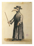 Venetian Doctor During the Time of the Plague Reproduction proc&#233;d&#233; gicl&#233;e par Jan van Grevenbroeck