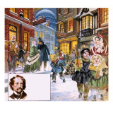 They Lived their Books: the Man Who Was Christmas Giclee Print by  Mcbride