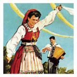 Girl in the National Costume of Portugal Giclee Print by  English School