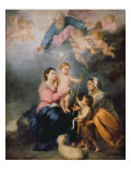 The Holy Family or the Virgin of Seville Giclee Print by Bartolome Esteban Murillo