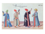 Four Jewish Doctors from Adrianople, Turkey, C.1600 Giclee Print by  German School