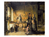 Interior of a Breton Boulangerie, C.1906 Giclee Print by Joseph Bail