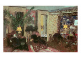 Interior Or, the Salon with Three Lamps, 1899 Giclee Print by Edouard Vuillard