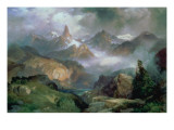 Index Peak, Yellowstone National Park, 1914 Giclee Print by Moran