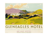 Gleneagles Hotel, Poster Advertising the Lms, 1924 Giclee Print by  English School