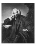 Laurence Sterne, Engraved by Edward Fisher Giclee-trykk av Sir Joshua Reynolds