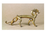 Gilt Bronze Sea Dragon, Six Dynasties Period Giclee Print by Chinese School 