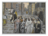 The Disciples Admire the Buildings of the Temple Giclee Print by James Jacques Joseph Tissot