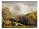 Landscape, Figures and Cattle Giclee Print by Samuel Palmer