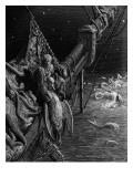The Mariner Gazes on the Serpents in the Ocean Giclee Print by Gustave Doré