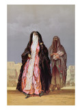Veiled Women, from 'souvenir of Cairo', 1862 Giclee Print by Amadeo Preziosi