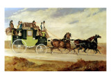 London to Bristol and Bath Stage Coach Giclee Print by Charles Cooper Henderson