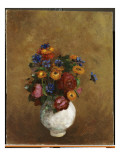 Bouquet of Flowers in a White Vase Giclee Print by Odilon Redon