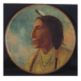 Portrait of Chief Wolf Robe, 1892 Reproduction procédé giclée par Russell