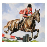 Pat Smythe and Her Horse Prince Hal Giclee Print by Ron Embleton