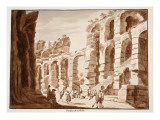 Excavations in the Colosseum, 1883 Giclee Print by Agostino Tofanelli
