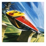 Artist's Conception of a Glider Train Giclee Print by Wilf Hardy