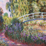 The Japanese Bridge, Pond with Water Lilies, 1900 Impressão giclée por Claude Monet
