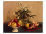 Flowers, Dish with Fruit and Carafe, 1865 Giclee Print by Henri Fantin-Latour