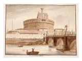The Bridge of Hadrian's Tomb, 1833 Giclee Print by Agostino Tofanelli