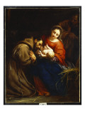 The Holy Family with St. Francis, 1665 Giclee Print by Jacob Van Oost