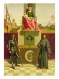 Madonna and Child with Saints Liberale and Francis Giclee Print by  Giorgione
