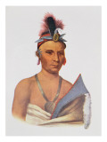 Keesheswa or 'The Sun', a Fox Chief, C.1837 Giclee Print by Charles Bird King