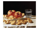 Still Life with Apples and Biscuits, 1862 Giclee Print by John F. Francis