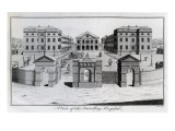 A View of the Foundling Hospital, 1756 Giclee Print by Benjamin Cole