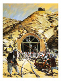 Railway Through the Khyber, 1980 Giclee Print by Graham Coton