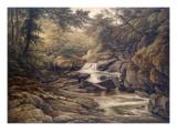 Rhiadr Ddu, Near Maentwrog, North Wales Giclee Print by John Glover