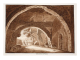 Foundations of the Palatine, 1833 Giclee Print by Agostino Tofanelli