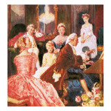 The Master Musician: Handel Giclee Print by John Millar Watt