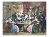 Tea in High Society in France, C. 1840 Giclee Print by Achille Deveria