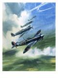El Supermarine Spitfire Mark Ix Lámina giclée por Wilf Hardy